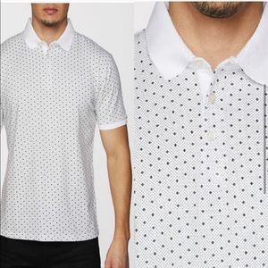 NWT Polo White with black dots